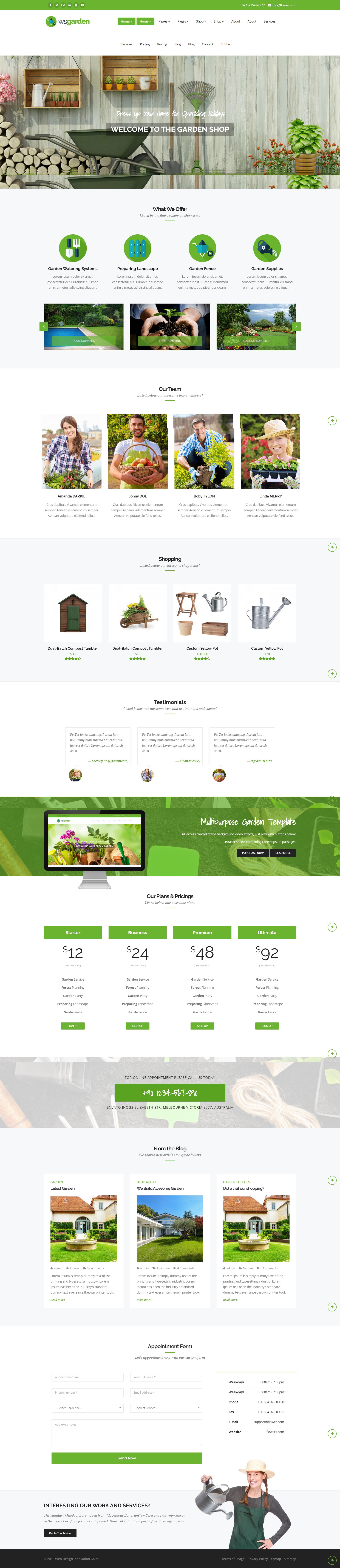 Gradina Web Design Galati site web Magazin Online